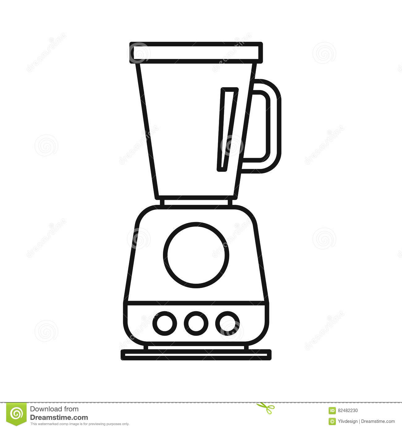 Retro Juicer Icon, Outline Style Cartoon Vector