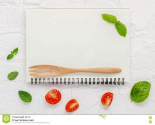 menu background food notebook foods preview leaf