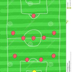 Football Pitch Diagram To Print Dometic Rm1350 Wiring Formation Stock Illustration. Image Of Scribble - 25348002