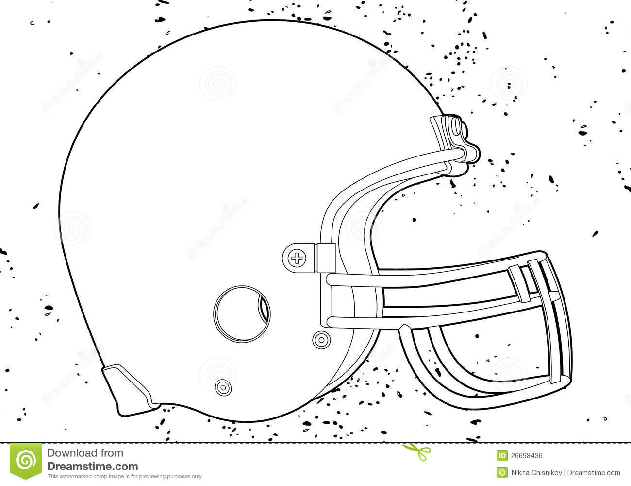 Football Helmet Royalty Free Stock Image