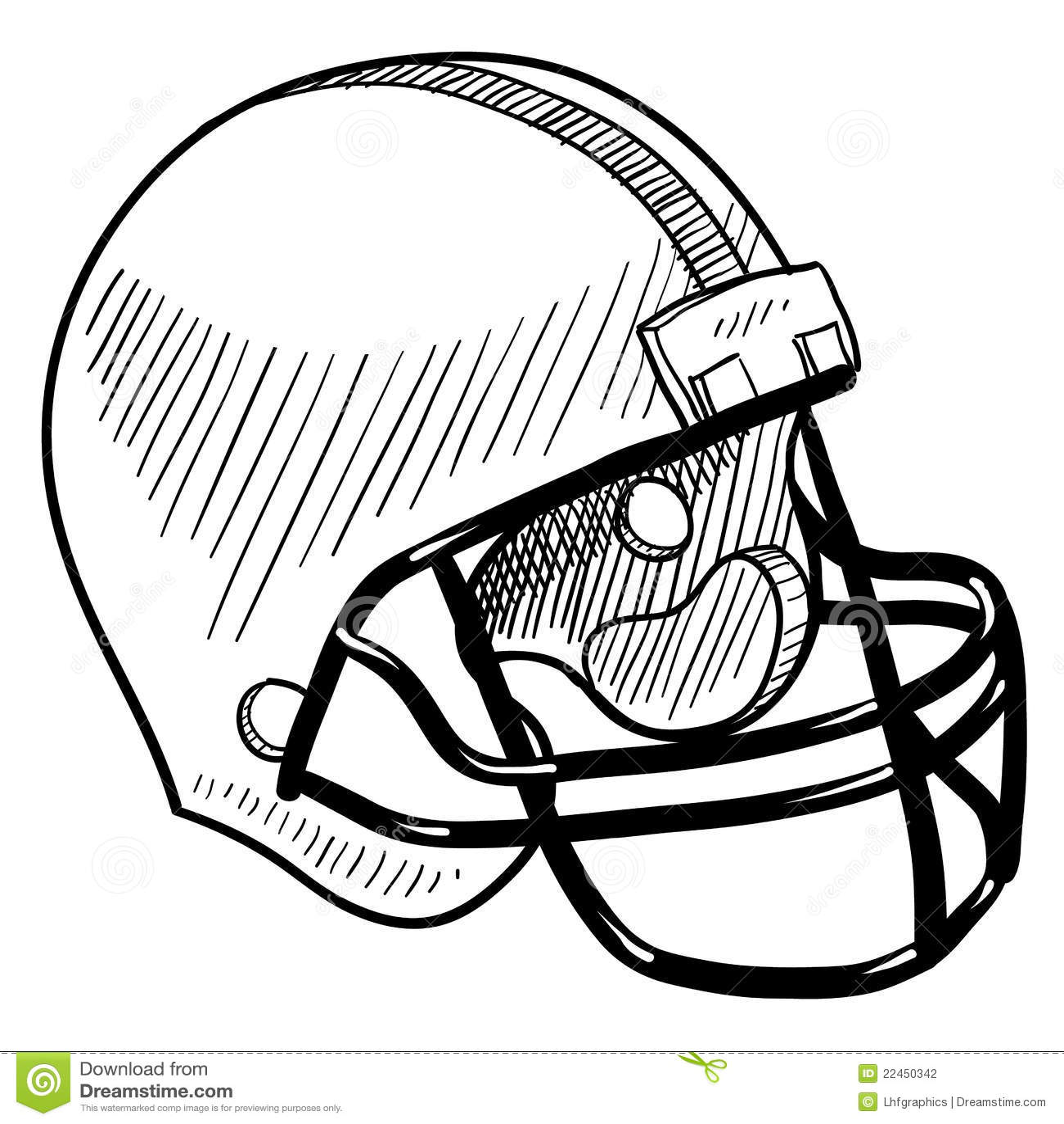 Football Helmet Drawing Stock Photography