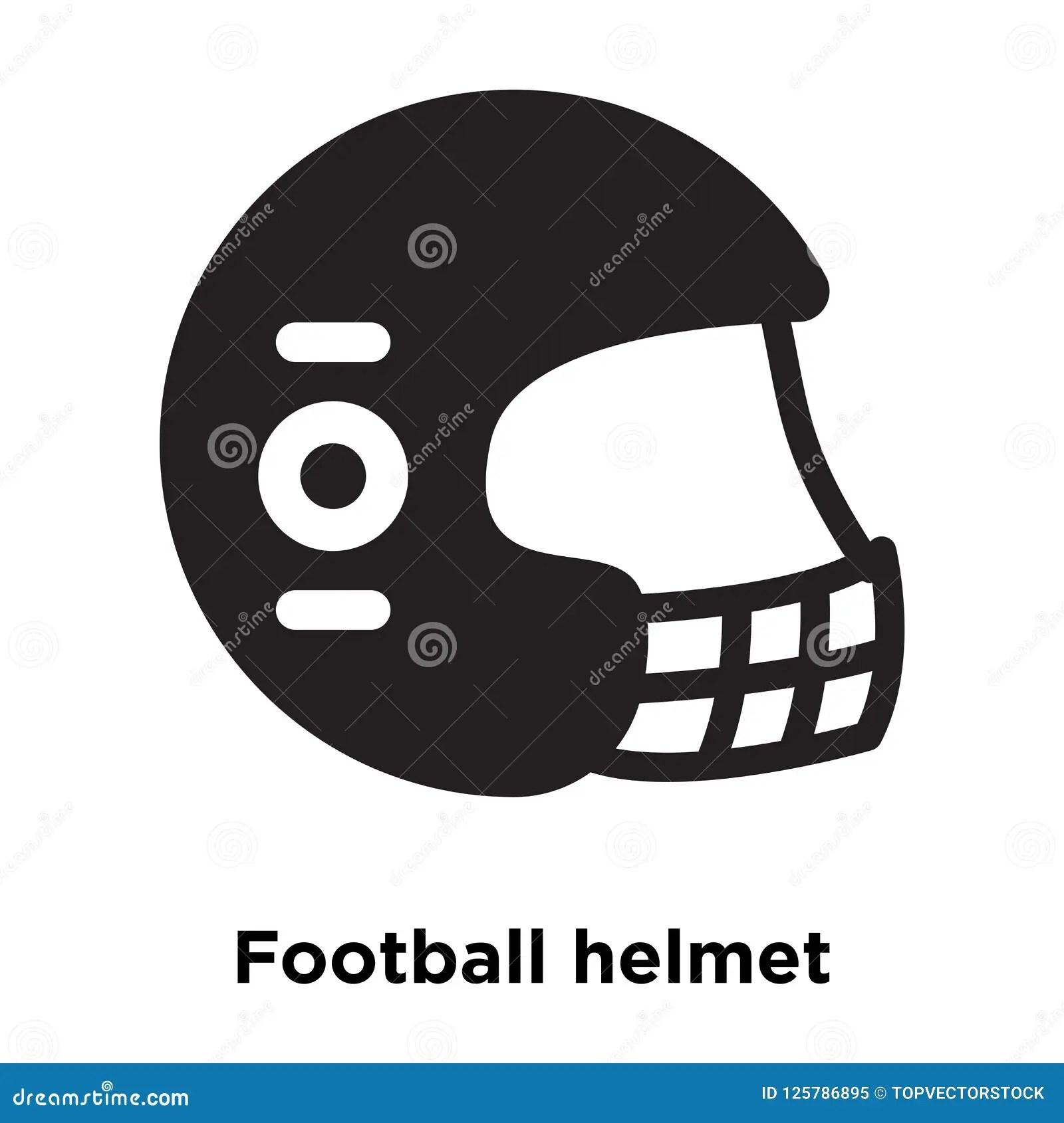 football helmet icon vector