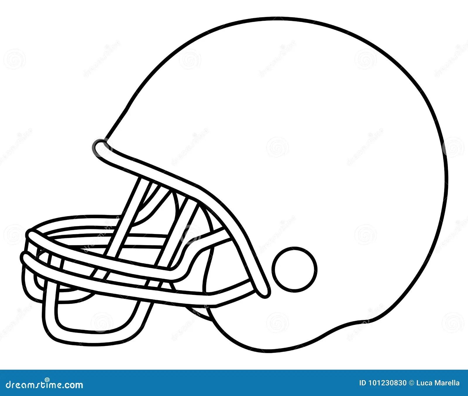 Football Helmet Stock Vector Illustration Of Black 101230830