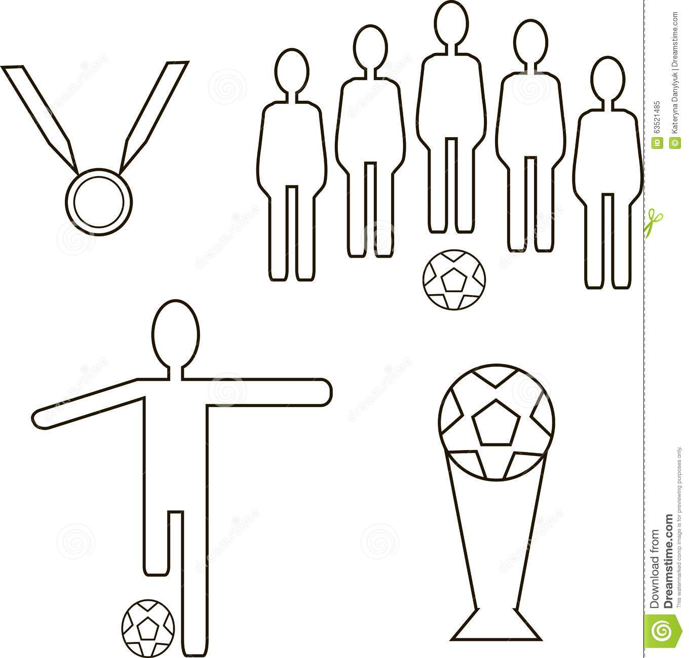 Football Icons. The Team With The Ball, The Player With