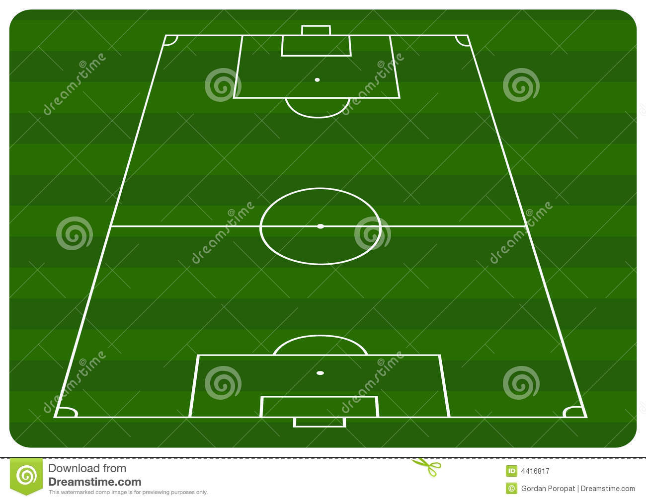 football pitch diagram to print basic electrical wiring for house royalty free stock photography image 4416817