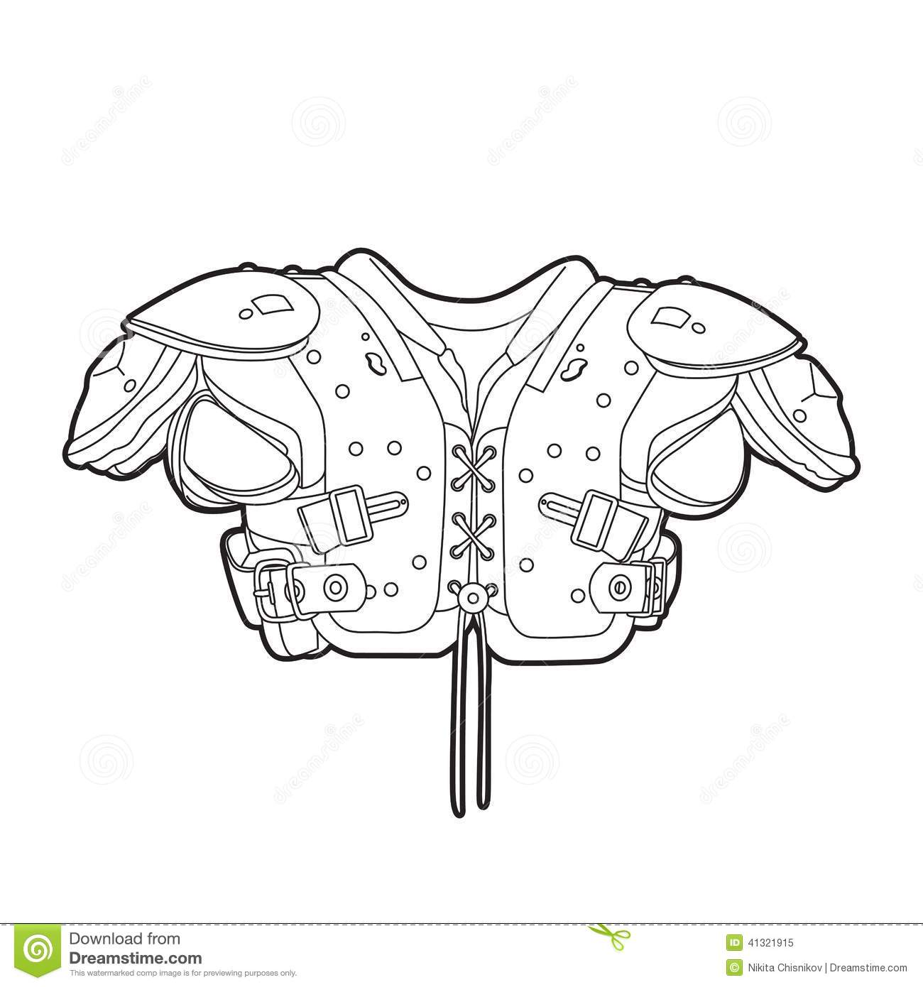 Football Shoulder Pads Stock Photo