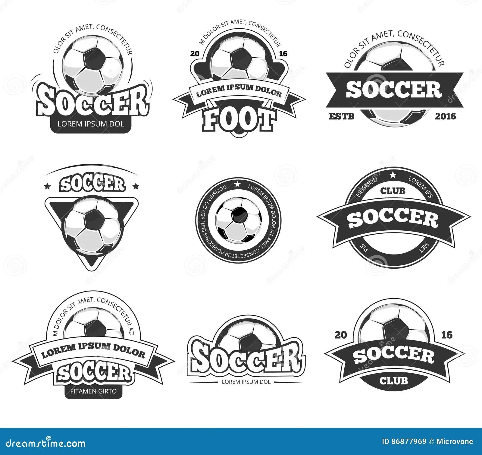 Football, Soccer Club Vector Logo, Badge Templates Set