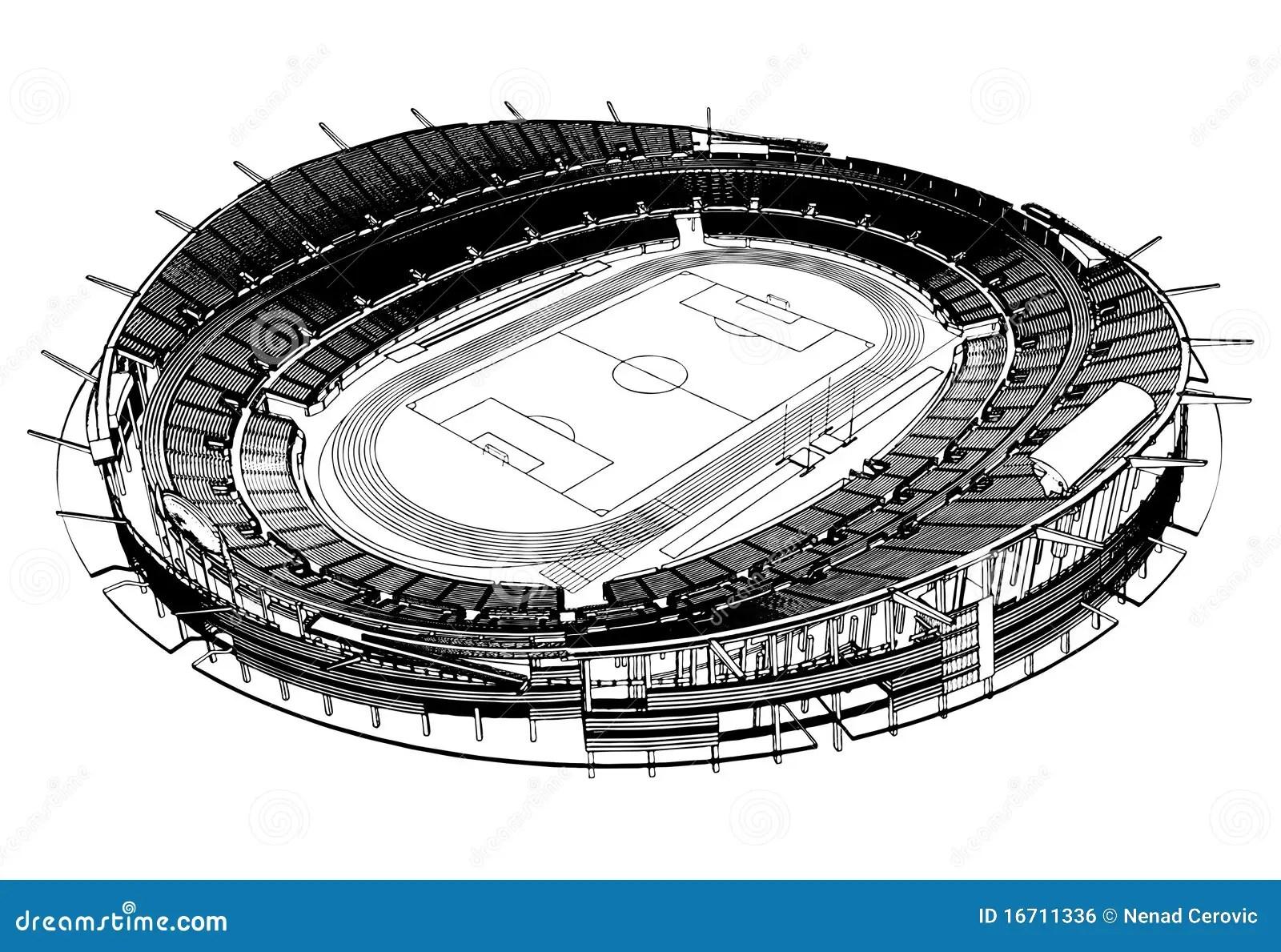 Football Soccer Stadium Vector 03 Stock Vector