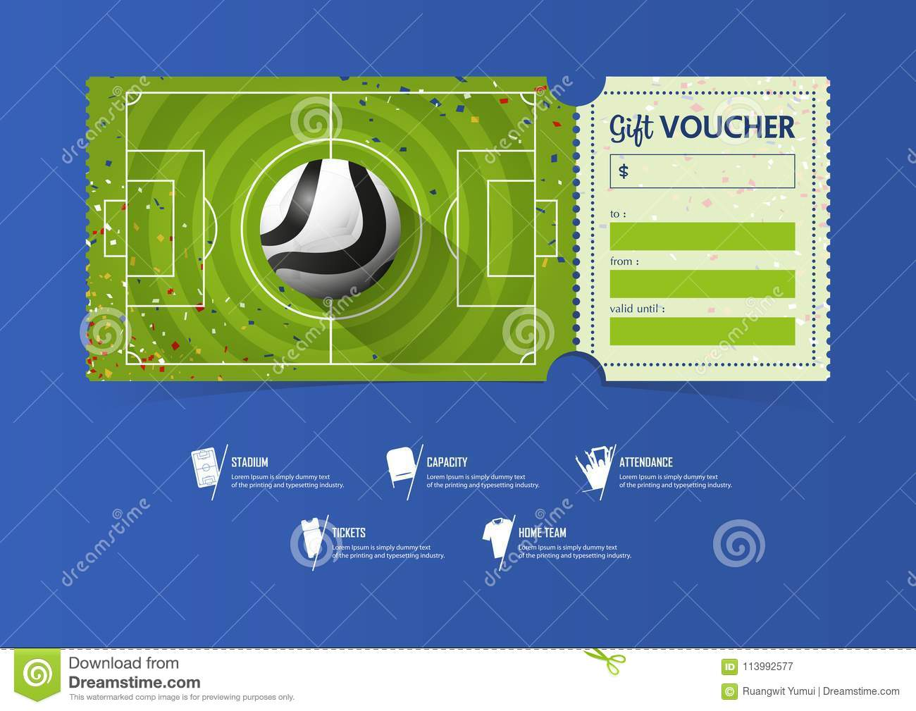 football pitch diagram to print plot graphic organizer pdf or soccer ticket template design for sport match with circle pattern gift vouchers certificate coupons