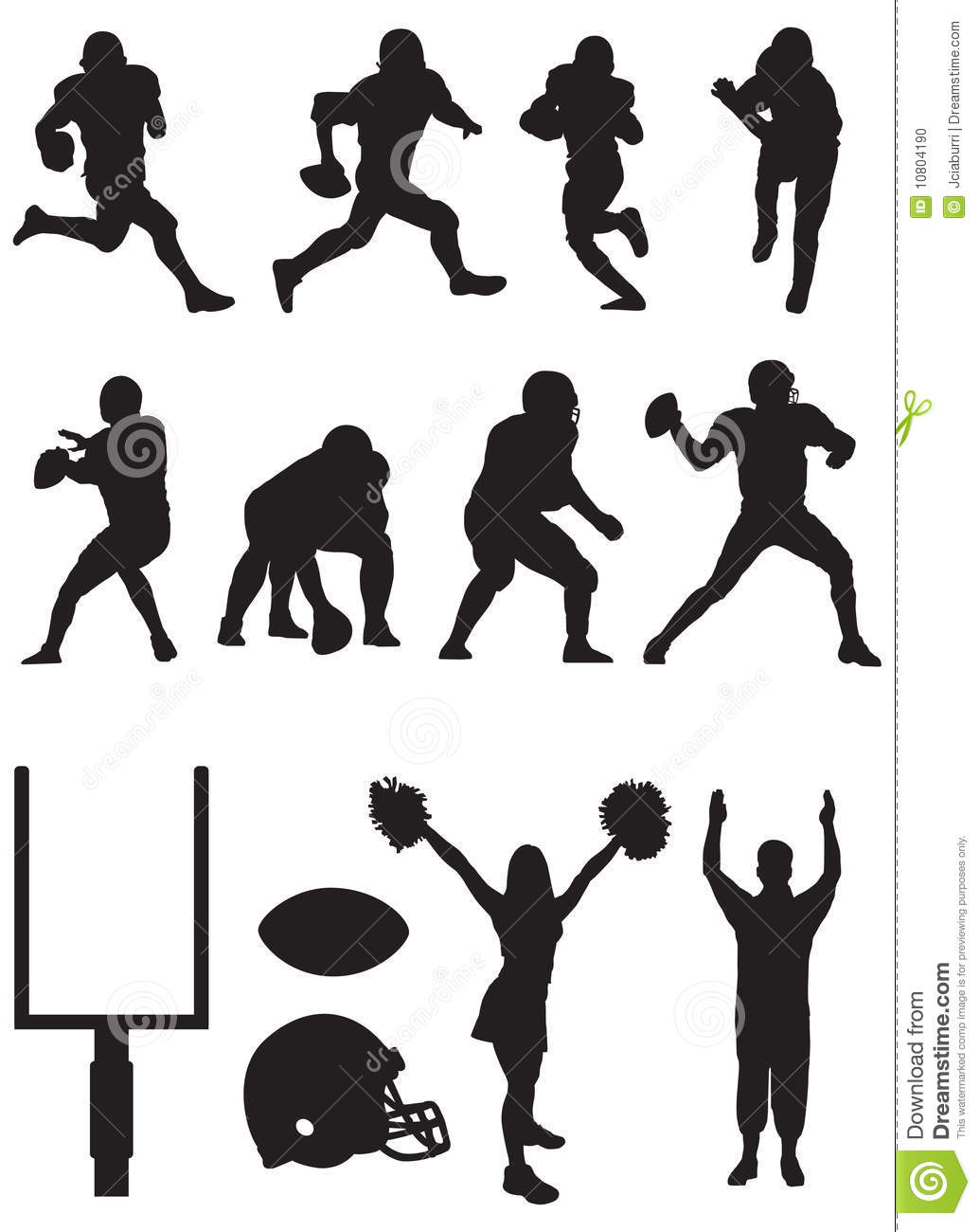 Football Team Silhouettes Stock Illustration