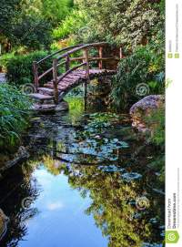 Footbridge in the Garden stock photo. Image of beauty ...