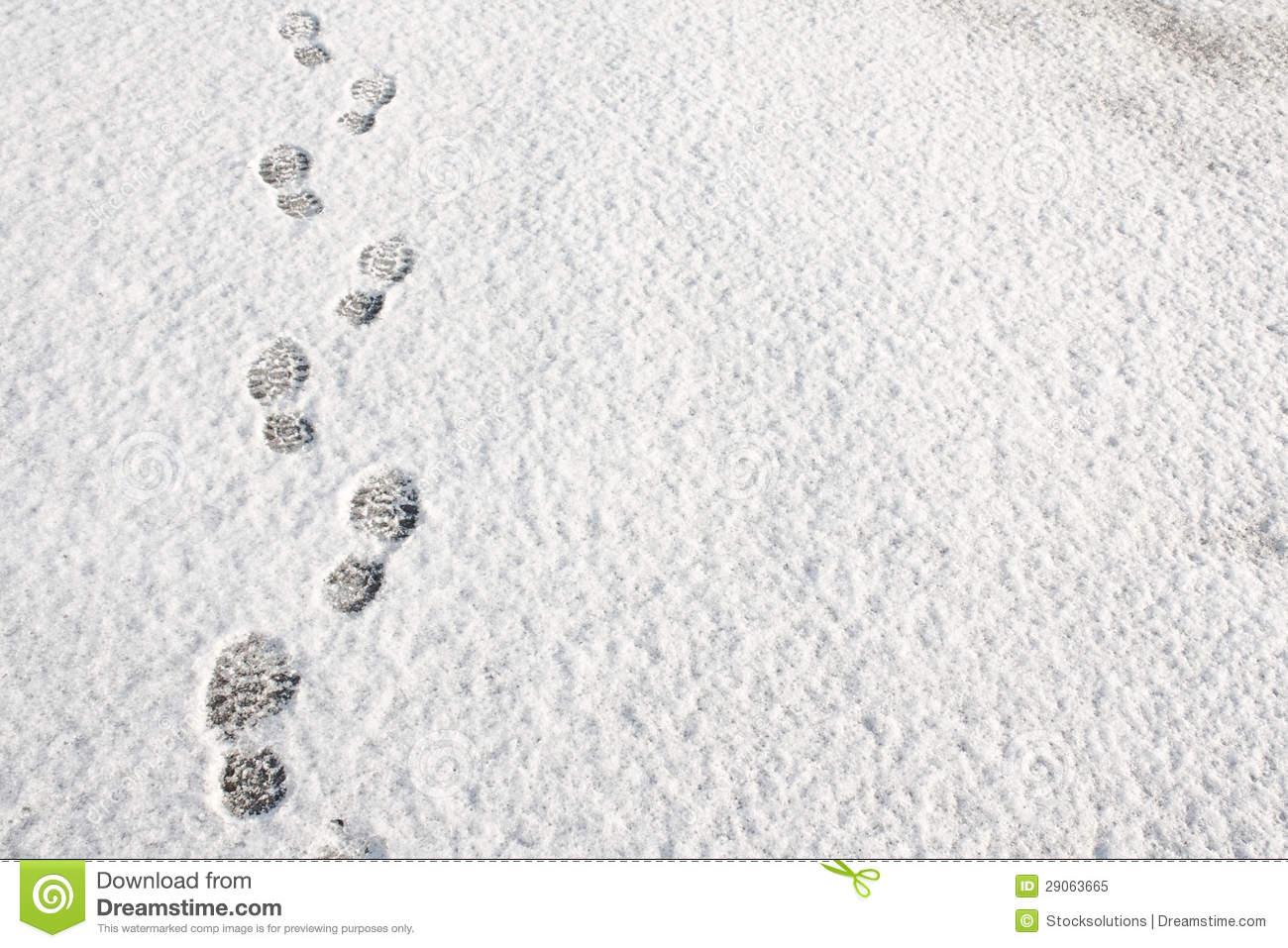 Footprints In The Snow Background Royalty Free Stock Photo