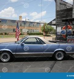 blue legendary ford el camino vehicle  [ 1300 x 916 Pixel ]