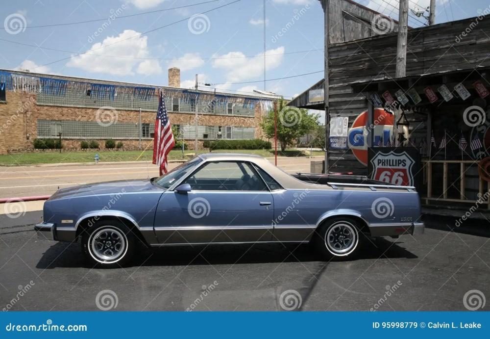 medium resolution of blue legendary ford el camino vehicle