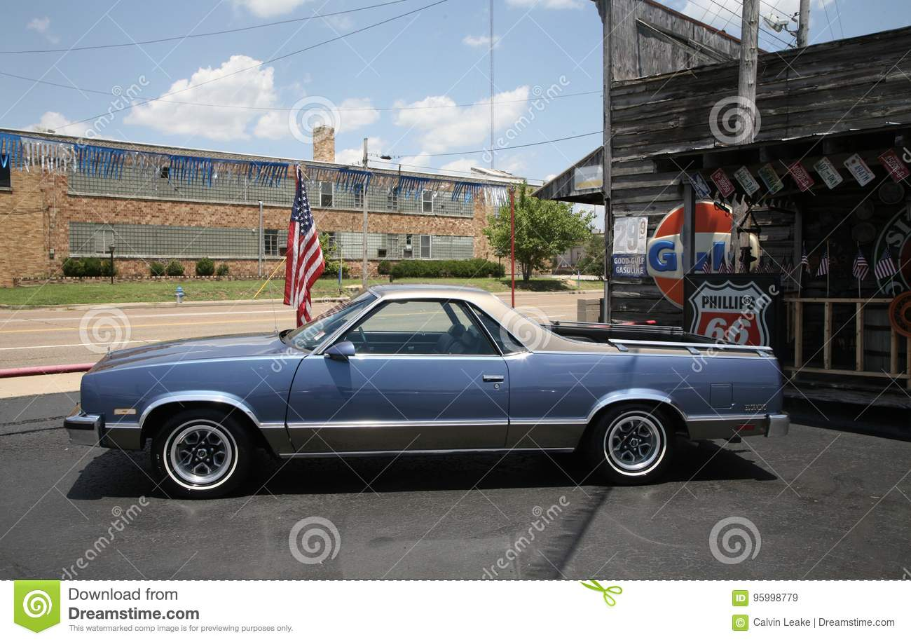 hight resolution of blue legendary ford el camino vehicle