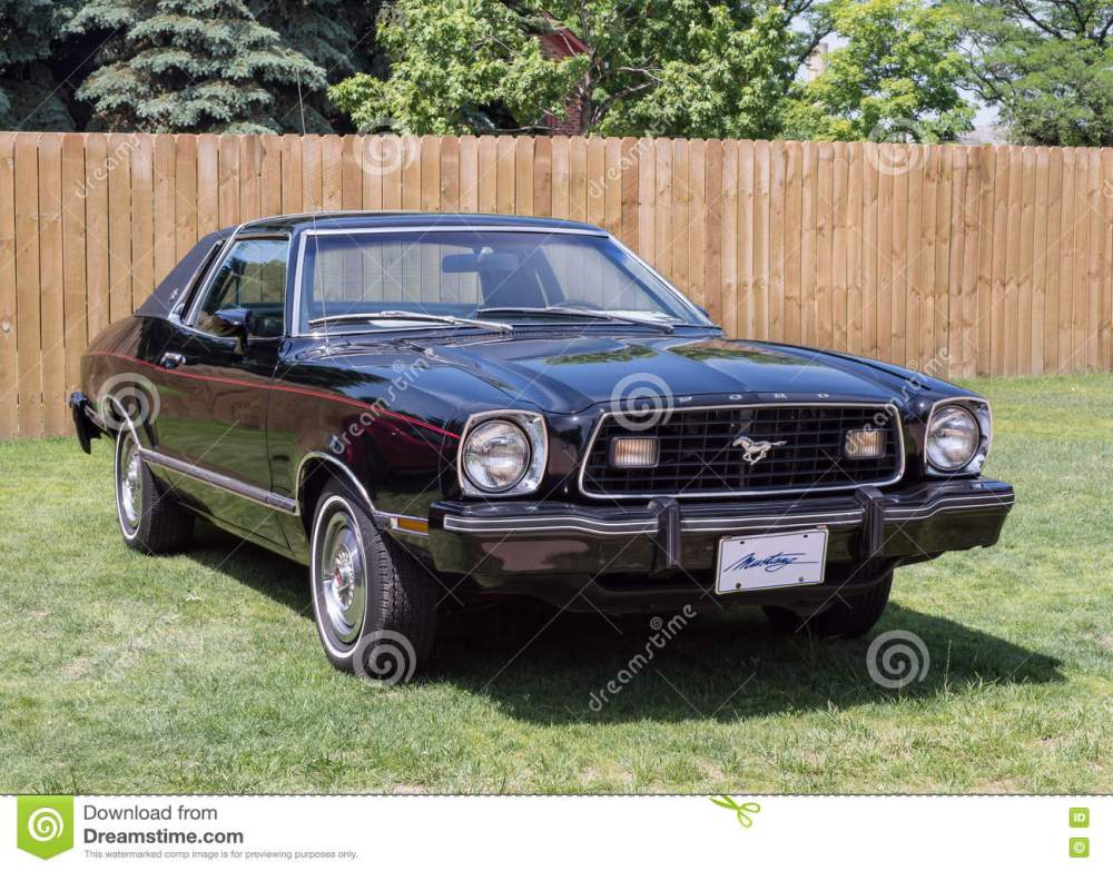 medium resolution of dearborn mi usa june 18 2016 a 1977 ford mustang ii car at the henry ford thf motor muster car show held at greenfield village near detroit