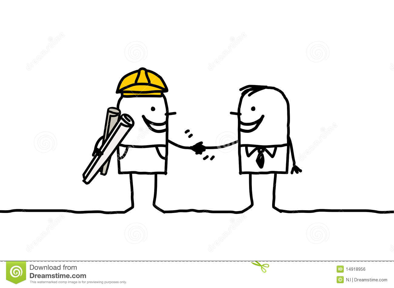 Foreman And Client Handshake Royalty Free Stock Image