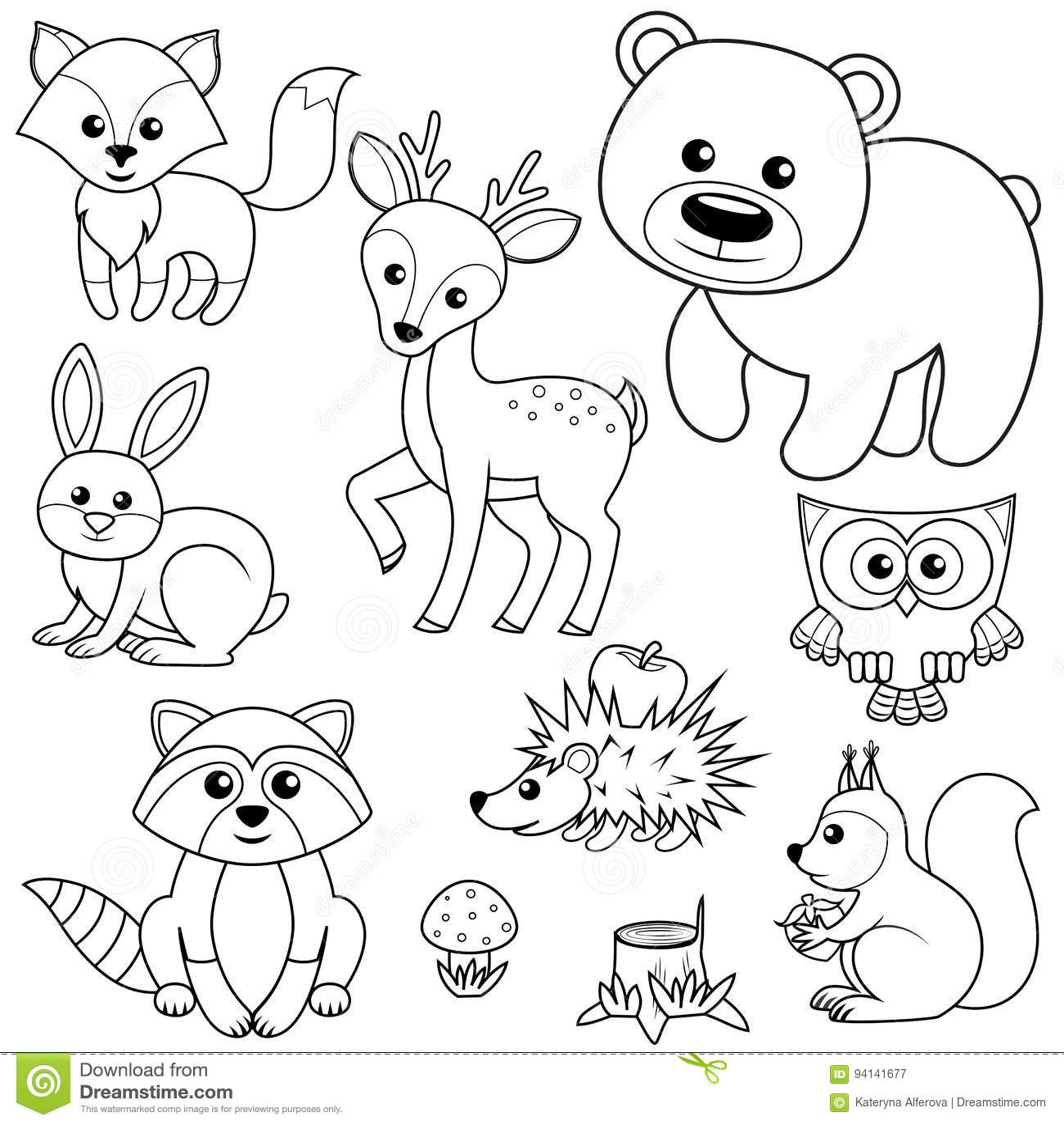 Black And White Cartoon Animals Cartoon Vector