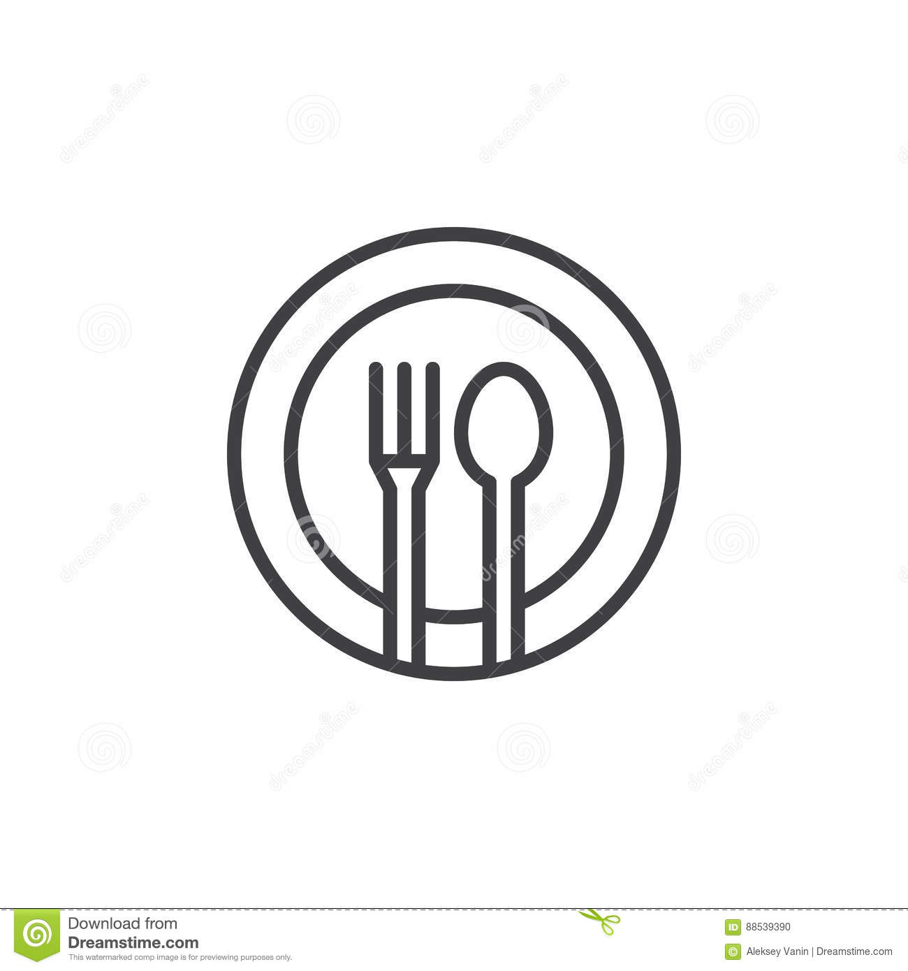 The Dish In The Restaurant With A Sign Royalty-Free Stock