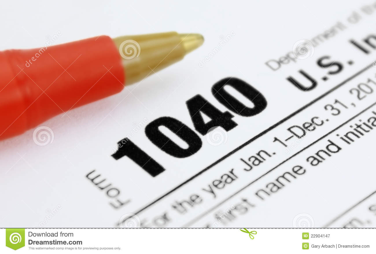 Form Income Tax Return Royalty Free Stock Photography