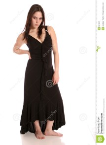 Barefoot Girls in Formal Dresses