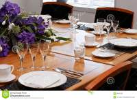 Formal dining table set up stock photo. Image of celbrate ...