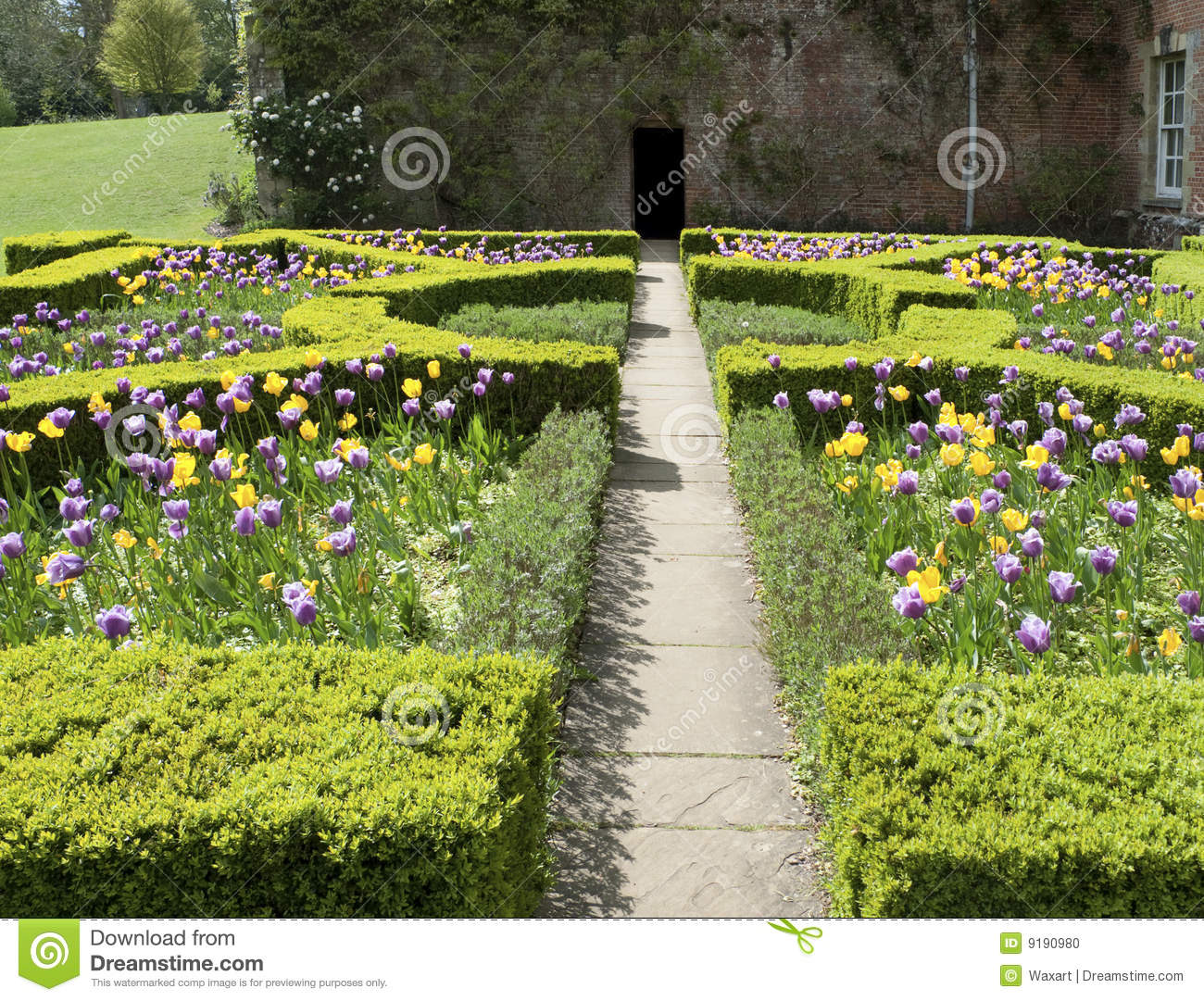 Formal English Garden In Spring Stock Photo Image Of