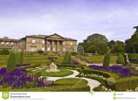 Formal Garden And A Mansion House. Stock Photo - Image ...