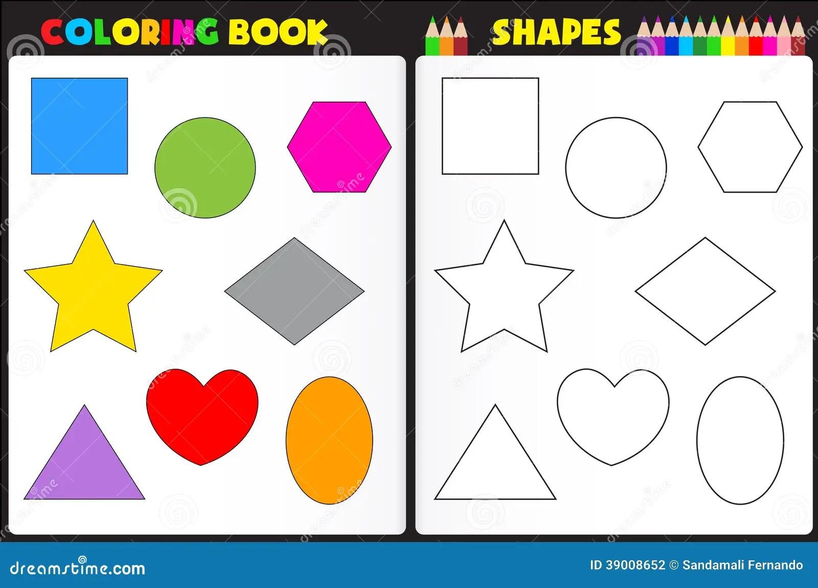 Forme Del Libro Da Colorare Illustrazione Vettoriale