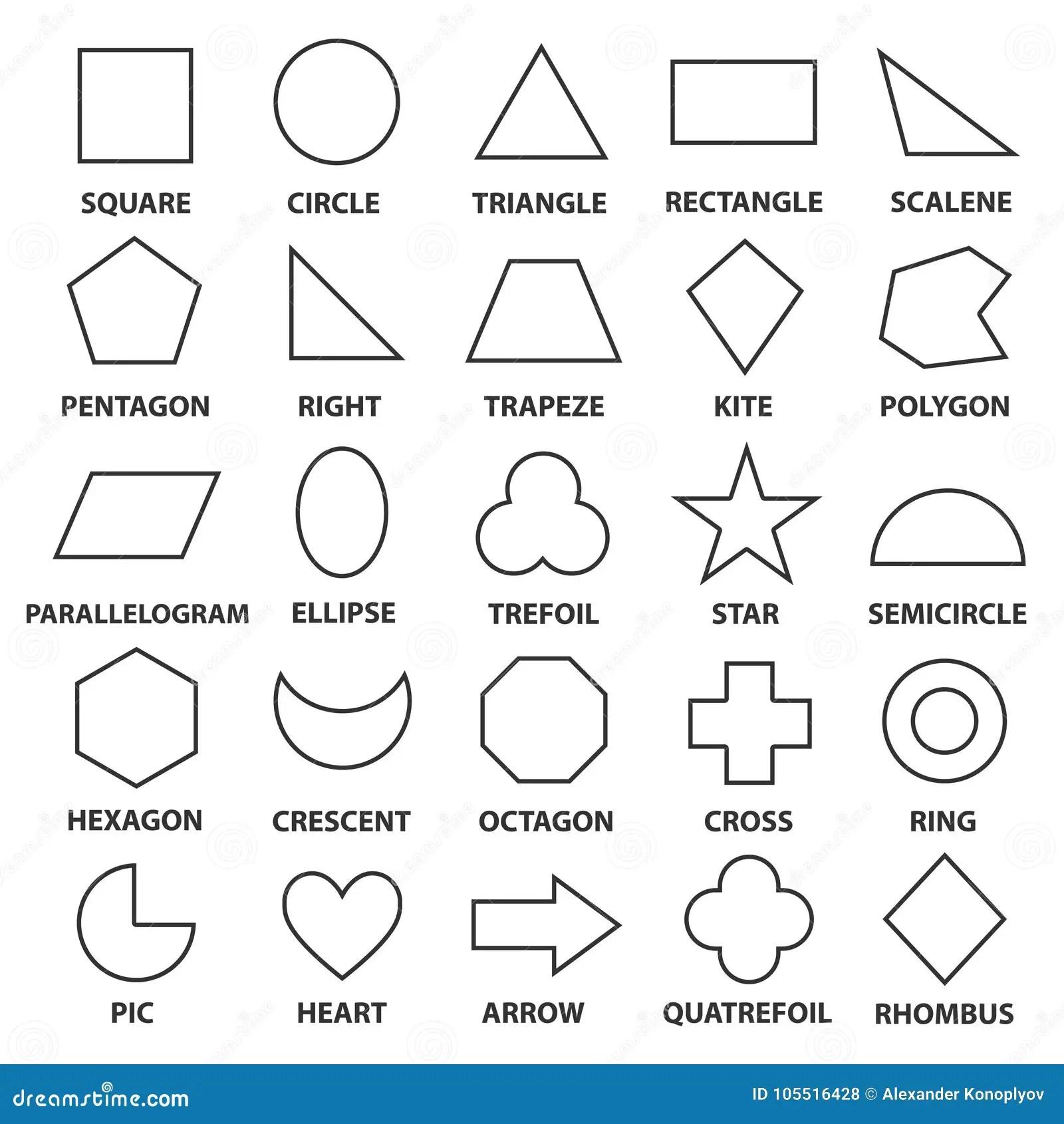 Formes Géométriques Fondamentales Illustration de Vecteur