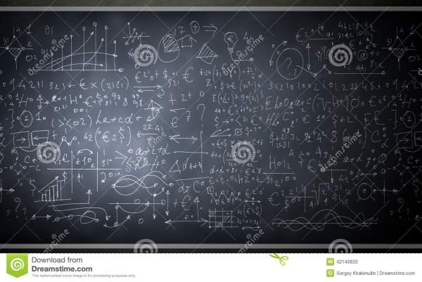 Formulas And Figures Stock Illustration. Illustration Of
