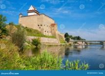 Forteresse De Narva L'estonie Ue Stock - Du