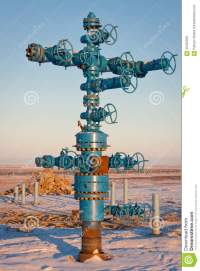 Fountain Gas Fittings Natural Gas Production Stock Photo ...