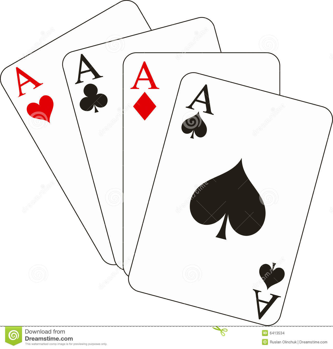 Four Aces Stock Vector Illustration Of Background