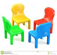 Four Colored Cartoon-styled Chairs Stock Illustration ...