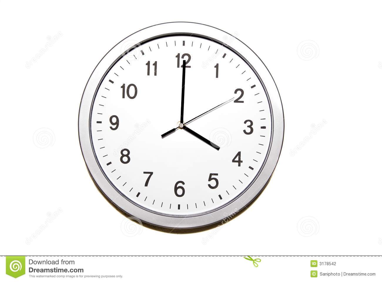Four o'clock stock photo. Image of isolated, object