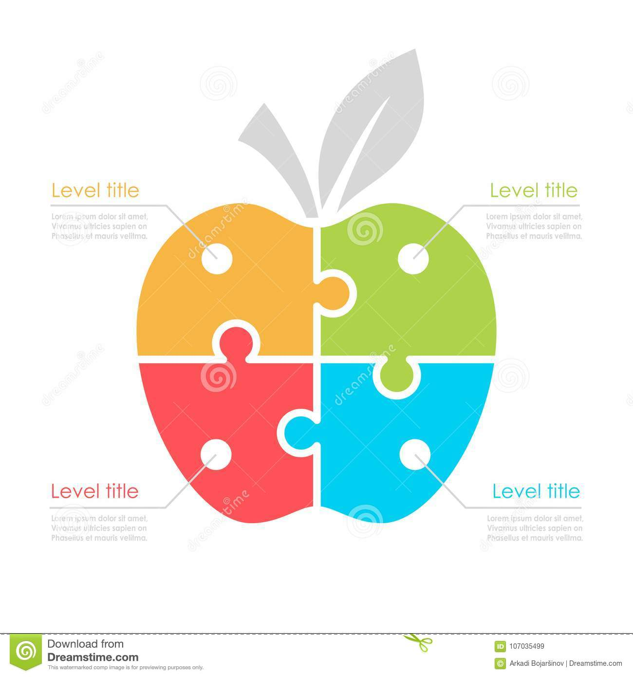 hight resolution of four part diagram with apple