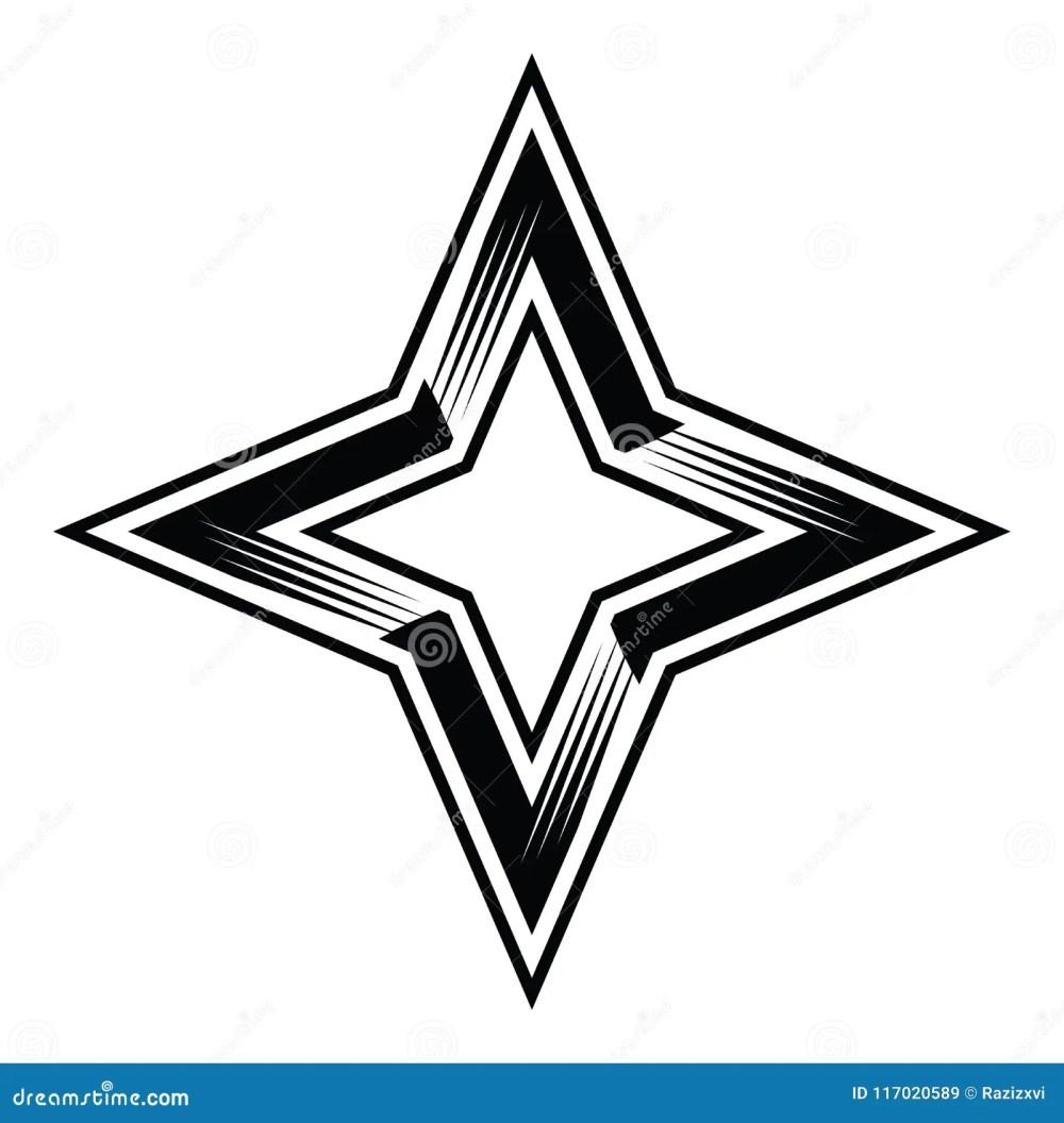 medium resolution of four point star 4pointstar four 4 points stars classy simple vector illustration clipart aics6 eps10 illustrator corel draw icon logo sticker emblem patch