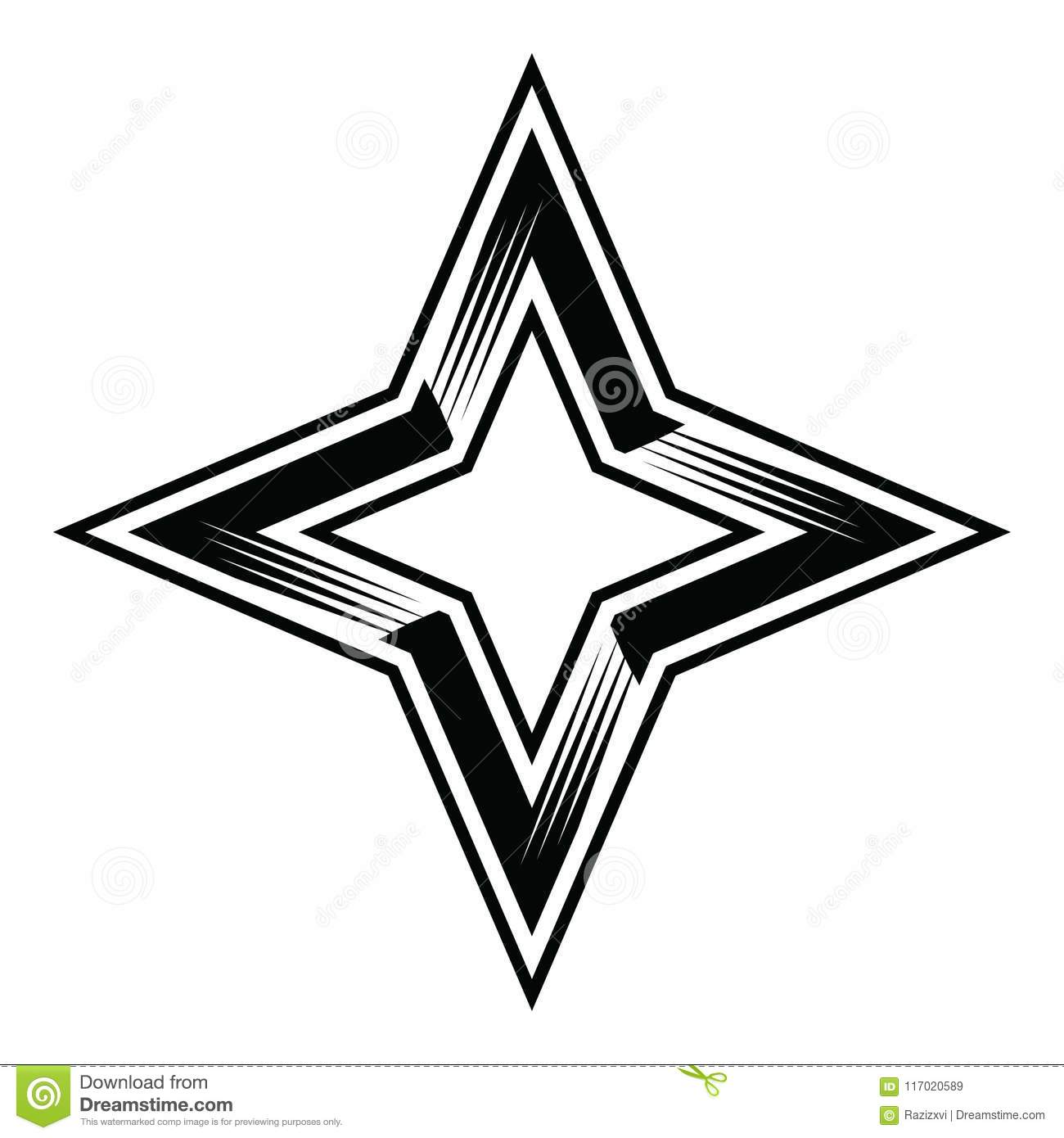 hight resolution of four point star 4pointstar four 4 points stars classy simple vector illustration clipart aics6 eps10 illustrator corel draw icon logo sticker emblem patch