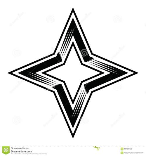 small resolution of four point star 4pointstar four 4 points stars classy simple vector illustration clipart aics6 eps10 illustrator corel draw icon logo sticker emblem patch