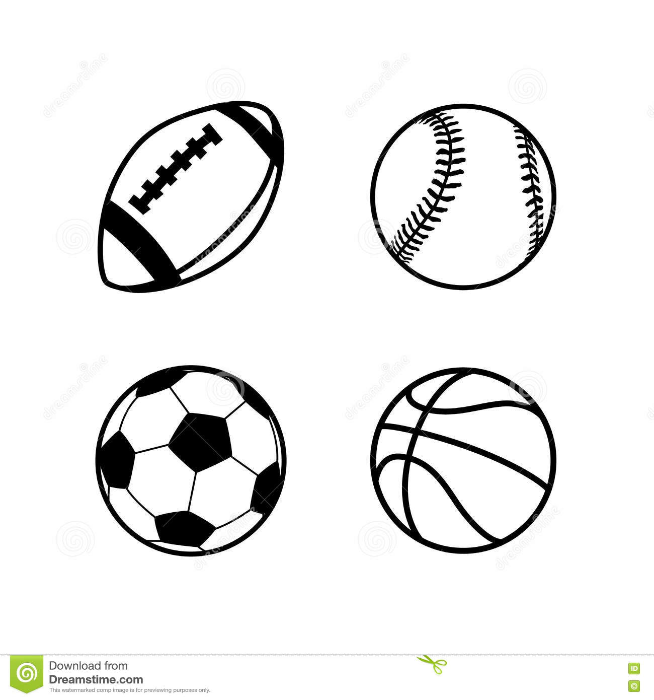 Rugby Ball Clipart Black And White