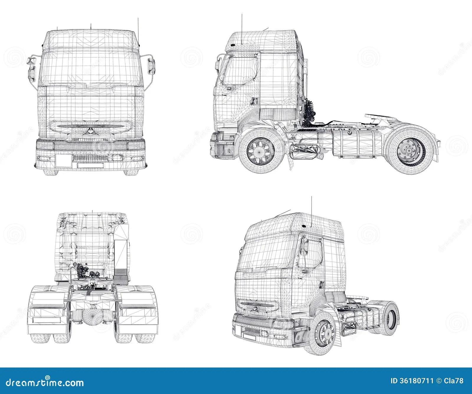 Wire Frame Transport Trucks Stock Image