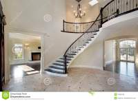 Foyer With Circular Staircase Stock Image - Image: 12655785