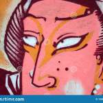 Fragment Of Colored Street Art Graffiti Paintings With Contours And Shading Close Up Editorial Stock Image Image Of Character Artist 146460444