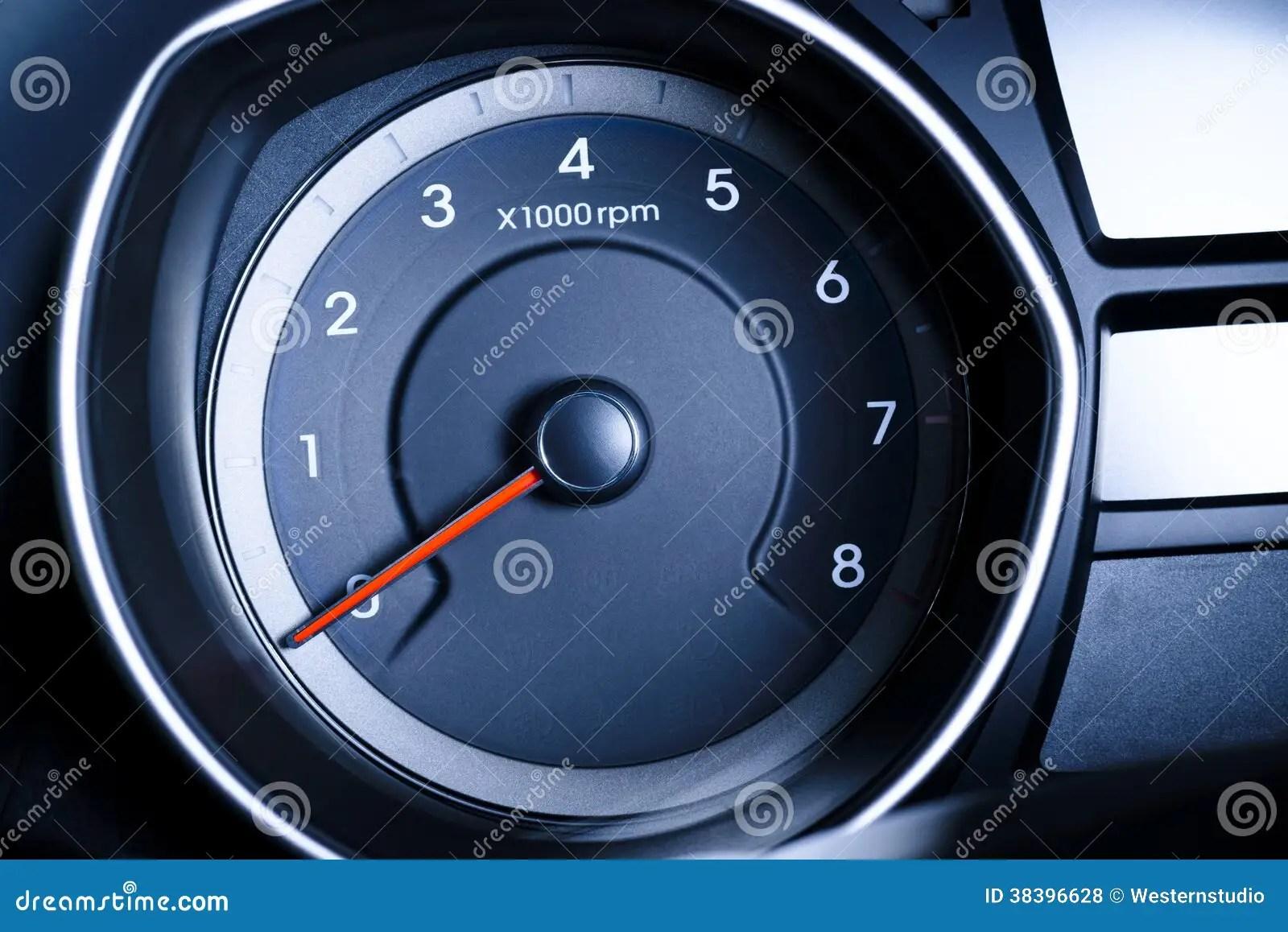 Fragment Of Instrument Panel Of Car Speedometer