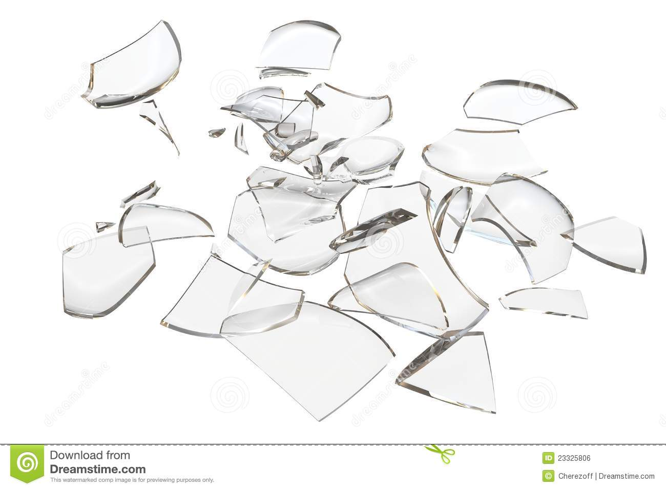 Fragments Glass Crashed Object Stock Illustration