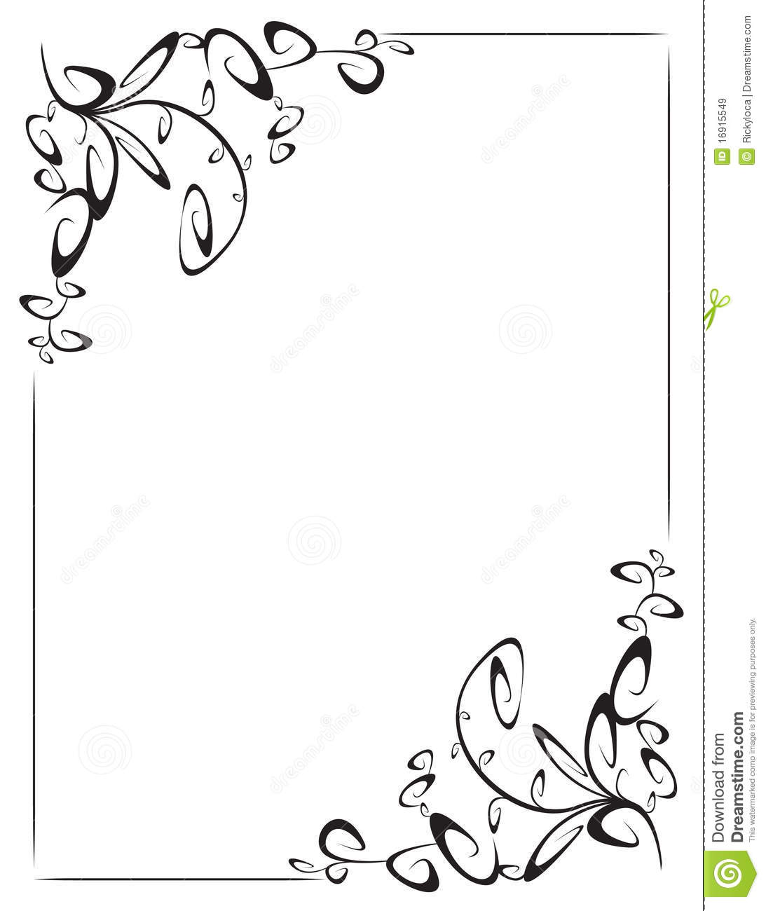 Frame With 2 Corner Decoration Stock Vector