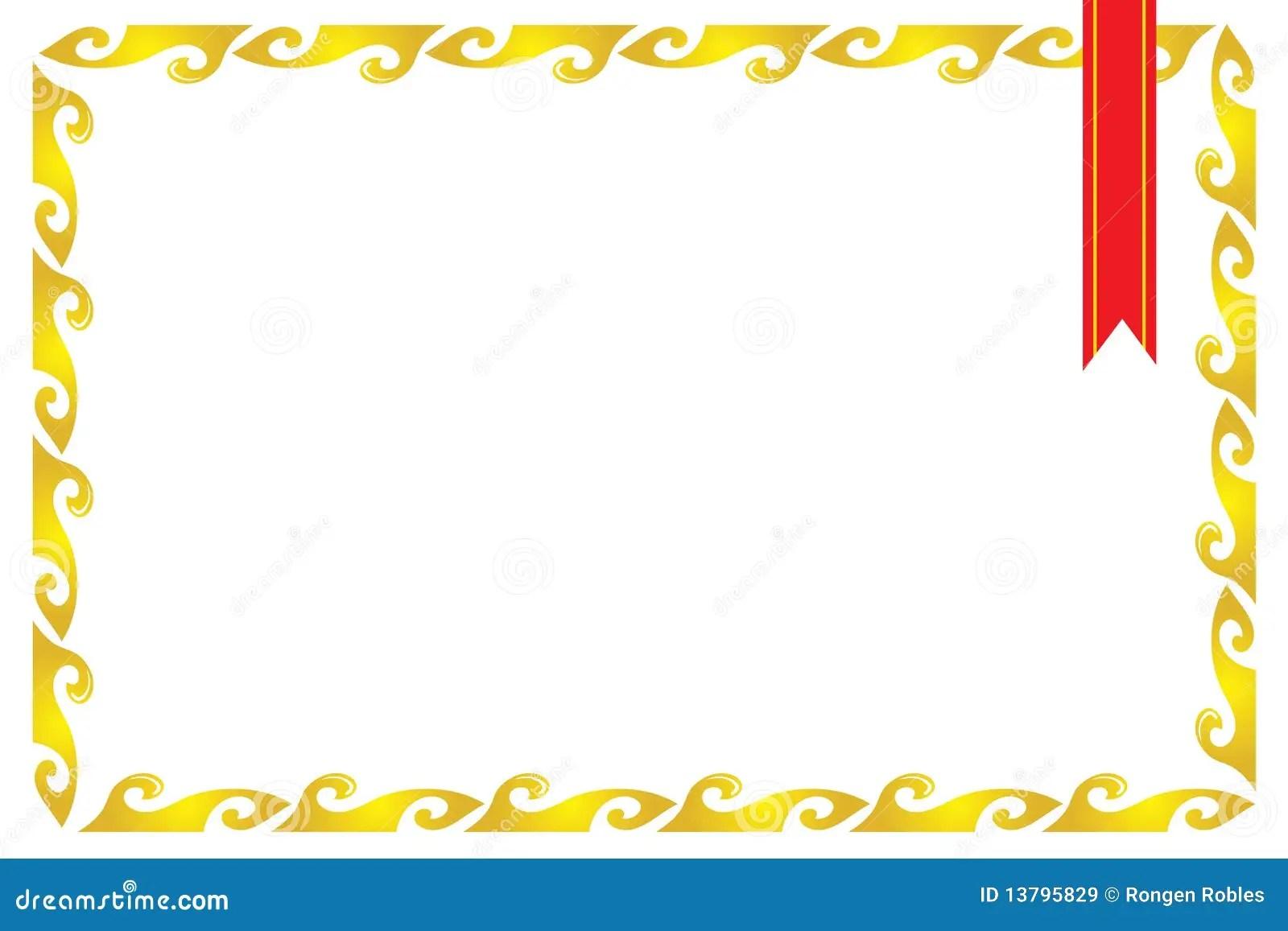 Blank Certificate Border Template | animalgals