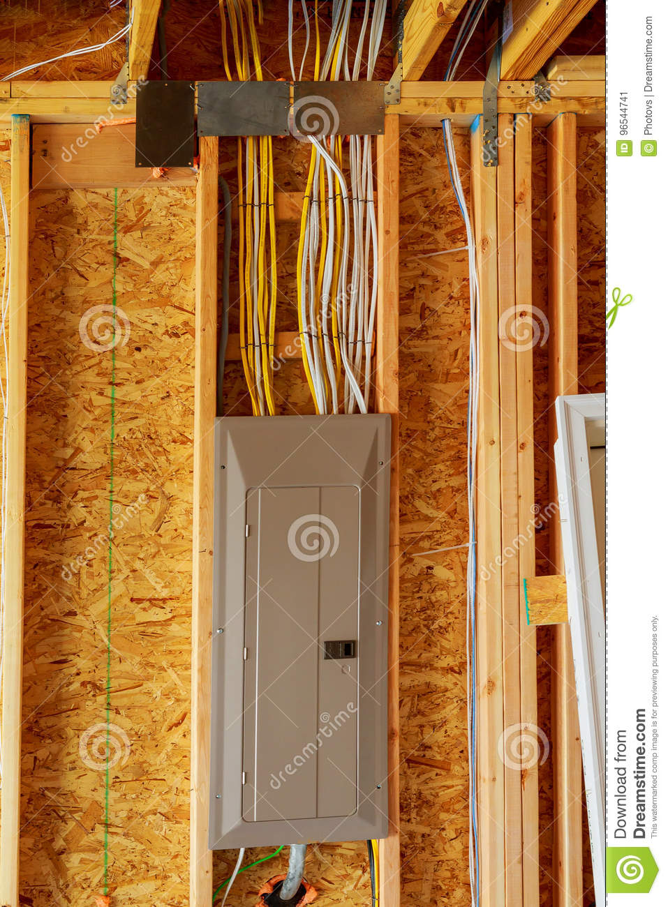 medium resolution of the frame building or house with basic electrical wiring