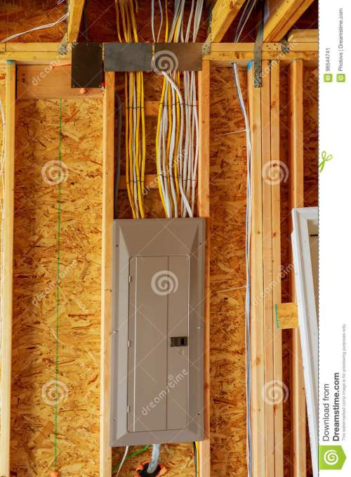 small resolution of the frame building or house with basic electrical wiring